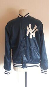 Rare Vintage 70s Felco New York Yankees MLB Striped Baseball Jacket size: L