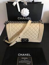 Chanel Boy Medium Flap Nubuck Shoulder Bag Purse Handbag EUC Pre Loved ❤️