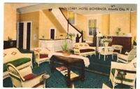 Undated Unused Postcard Main Lobby Hotel Governor Atlantic City New Jersey NJ