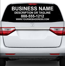 CUSTOM REAR WINDOW BUSINESS SIGN CAR TRUCK VAN VEHICLE VINYL DECAL LETTERING AD