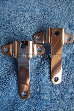 BSA GOLDSTAR GOLD STAR ROCKET RGS SPEEDO TACHO MOUNTING 'T' BRACKETS. ST/STEEL