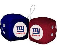 New York Giants Fuzzy Dice NFL Football Team Logo Plush Car Truck Auto