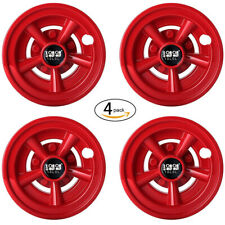 "(4) Golf Cart Wheel Cover Hub Caps W/O SS for Yamaha/Club CAR/EZ-GO 8"" Red NEW"