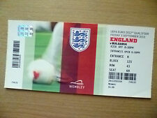 Tickets- 2012 UEFA Euro Qualifier ENGLAND v BULGARIA, 3 Sept 2012