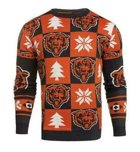 Chicago Bears Ugly Patches Christmas Sweater NEW