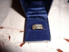 Stunning Geniune Blue Sapphire 9ct gold ring