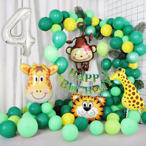 Jungle Themed 4th Birthday Balloon Arch Decoration DIY Kit - Over 75 Balloons