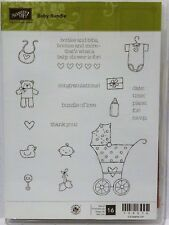 Stampin Up BABY BUNDLE stamps onsie bib stroller bear shower invitation