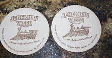 "vintage Jeremiah Weed coasters Burbon ""Railroad"" 1980"