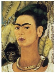 Frida Kahlo Self Portrait 1938 Famous Classical Great Art Painting Poster Print