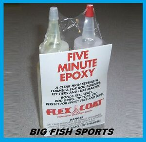 FLEX COAT 5 Minute Epoxy #Q4 Rod Building and Repair FREE USA SHIPPING!