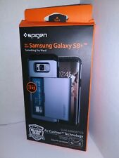 Spigen Slim Armor CS Wallet Card Carry Case For Samsung Galaxy S8 Orchid Gray