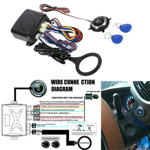 Car Engine Push Start Button Lock Ignition Starter Keyless Entry Stop Anti-theft