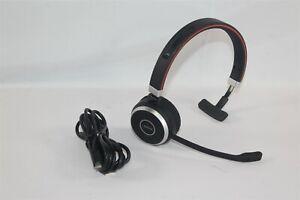 Jabra Evolve 65 Mono Wireless Headset HSC018W 6593-829-409 w/ USB Cable