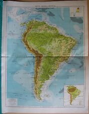 Antique South America Physical Maps | eBay