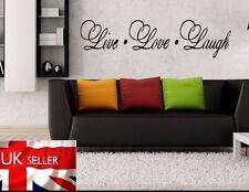 LIVE LAUGH LOVE WALL STICKER - HOME KITCHEN FAMILY WALL ART QUOTE DECAL