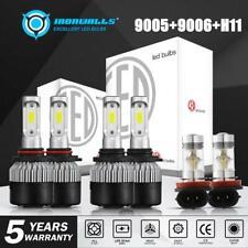 6x Combo 9005+H11+9006 3960W 594000LM LED Headlight Kit CREE Hi Low Bulbs 6000K