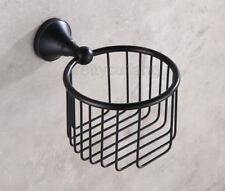 Black Oil Rubbed Brass Wall Mount Toilet Paper Holder Roll Tissue Basket Pba855