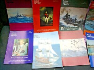 C 18 X AUSTRALIAN NAVY ( NAVAL ) MAGAZINES SEE PHOTOS HISTORICAL REVIEW 450 PAGE