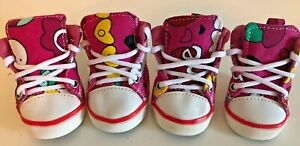 Dog Puppy Canvas Shoes - Hot Pink - Little Barkers - sz 3