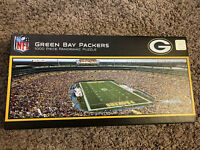 Rare NFL GREEN BAY PACKERS LAMBEAU FIELD STADIUM PANORAMIC JIGSAW PUZZLE 1000 PC