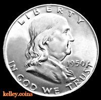 1950 50C Franklin Silver Half Dollar BU
