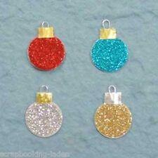 20 x Weihnachtskugeln 2 cm Scrapbooking Basteln 4 Farben glitzernd