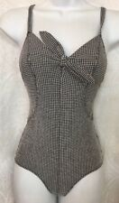 Lisa Marie Fernandez Swimsuit Black And White Gingham NWT $390 Size Xs