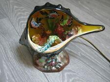 Belle Lampe coquillage Vintage  Cerdazur - Monaco - Aquarium Kitch - Kitsch