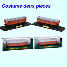 ATLAS 1/87 TRAIN MODEL 2PCS L'AUTOMOTRICE DE LA BANLIEUE OUEST BDF-9011 & B-9014