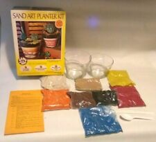 Sand Art Planter Kit, includes sand, 2 planters, instructions.  Open box