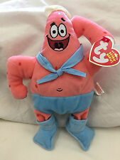 New! Ty Spongebob: PATRICK BARNACLEBOY beanie baby plush w/ tags Nickelodeon toy