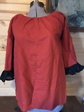 Red Colonial 18th century revolutionary war Williamsburg Shortgown Bedgown