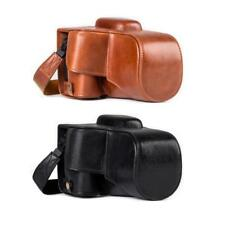 MegaGear Genuine Leather Camera Case for Canon EOS Rebel T7i, 800D|18-55 mm|