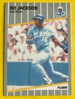1989 BO Jackson FLEER CARD #285 Vintage Baseball Kansas City Royals mlb nfl MINT
