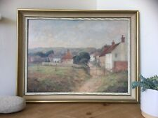 Madge Ruggles, Jevington Vintage Landscape Oil Painting Eastbourne East Sussex