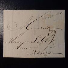 1777 LETTRE COVER MARQUE POSTALE DHOLLANDE AMSTERDAM POUR NANCY