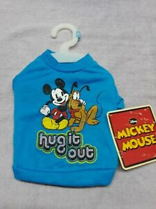 Top Paw Disney Mickey Mouse Size Small Apparel For Doggies T-shirt Color Blue