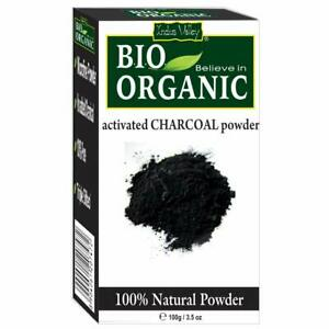 Indus Valley 100% Natural Activated Charcoal Powder Skin Removes Dead Skin 120gm