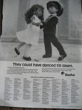Vtg SASHA Doll Advertisement ONLY Ad w/Gregor DANCED TILL DAWN