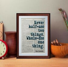 Ron Swanson Quote Dictionary page art print gift literary Music  quote
