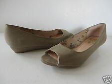 GÖRTZ 17 ° schöne SANDALETTEN Gr. 38 grau Leder Damen Schuhe Wedges Pumps SUPER