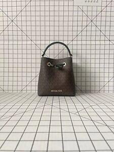 Michael Kors Suri Small/Mini Bucket Crossbody Drawstring Signature MK Bag
