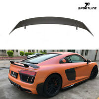 Carbon Fiber Rear Trunk Spoiler Tail Boot Wing Fit For AUDI R8 Coupe 2016-2019