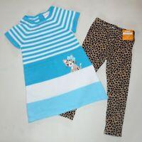 Gymboree Girls Leopard Warm Fuzzy Leggings Sweater Dress 3T NWT