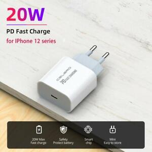 20W PD USB Type C Quick Charger Adapter For iPhone 12 Mini Pro Max Fast Charging