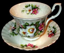 Vintage Royal Albert Tea Cup & Saucer Woodborough Pattern Bone China Summertime