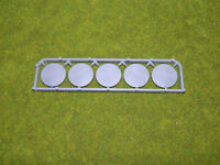 WARLORD GAMES SPRUE OF 5 25MM ROUND PLASTIC BASES AE431-262