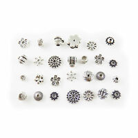 100pcs New Mixed Style Silver Connectors Bail Beads For Jewelry Making GR-523