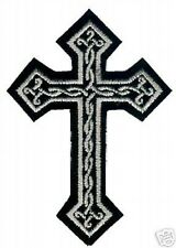CELTIC CROSS CRUCIFIX EMBROIDERED MALTESE CROSS IRON PATCH